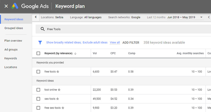 Free Tools to Help You With Your SEO
