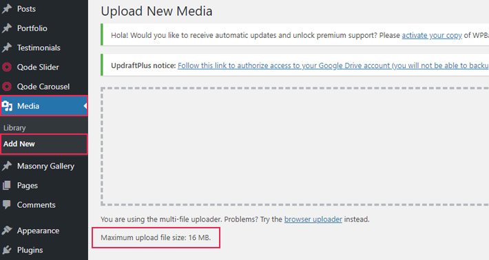 Increase the Maximum File Upload Size