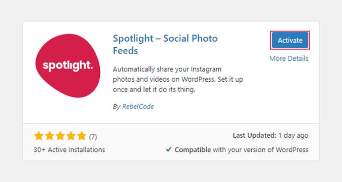 Activate Spotlight