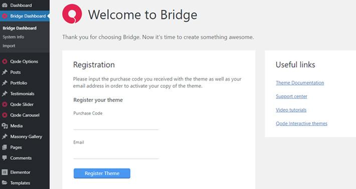 Bridge registration