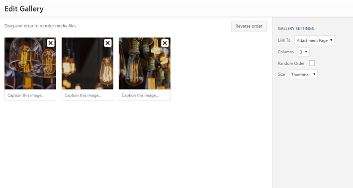 Basic WordPress Gallery Shortcode