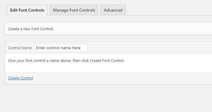 Create a Font Control