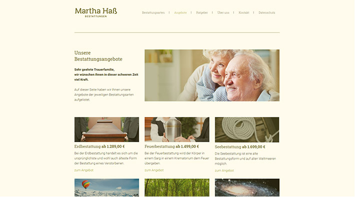 Martha Haß Bestattungen