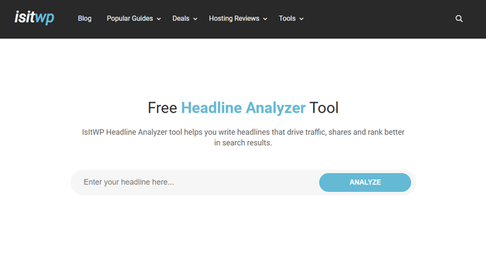 Headline Analyzer from IsItWP