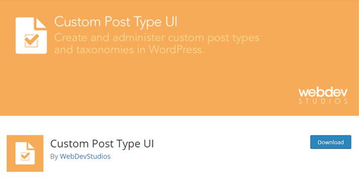 Custom Post Types UI Plugin