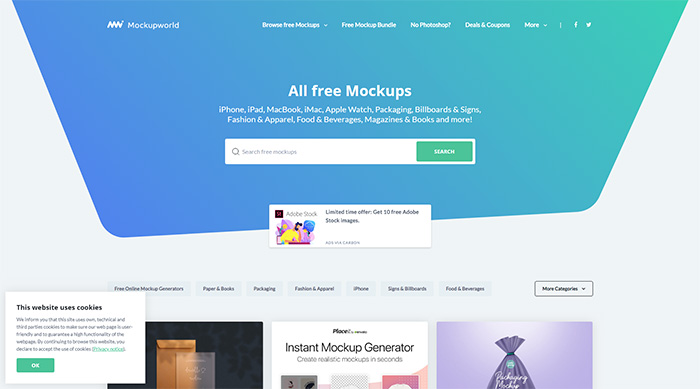 All Free Mockups Mockup World