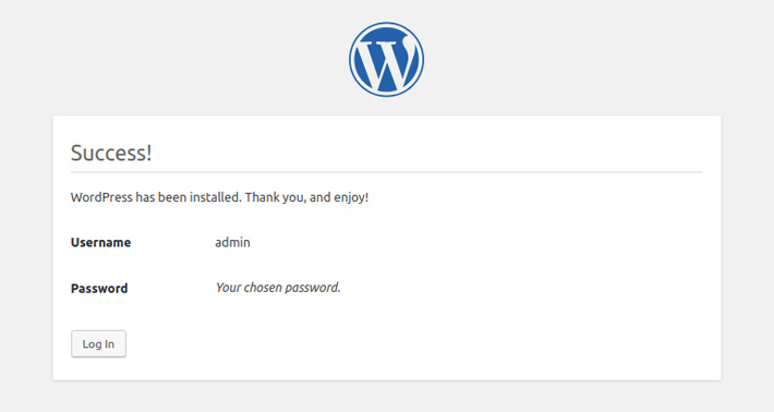 Installed WordPress