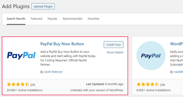 PayPal Now Button Plugin