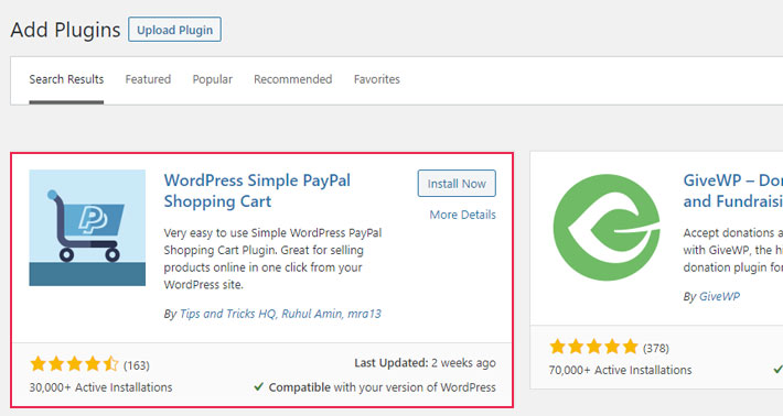 WordPress Simple PayPal Shopping Cart Plugin