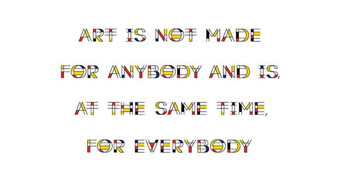 Mondrian Font