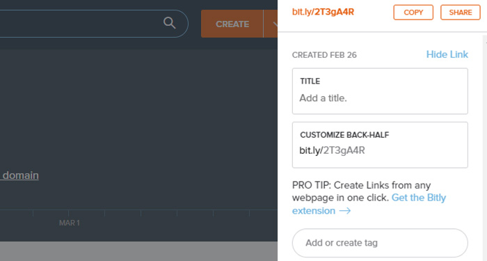Bitly Create Tags