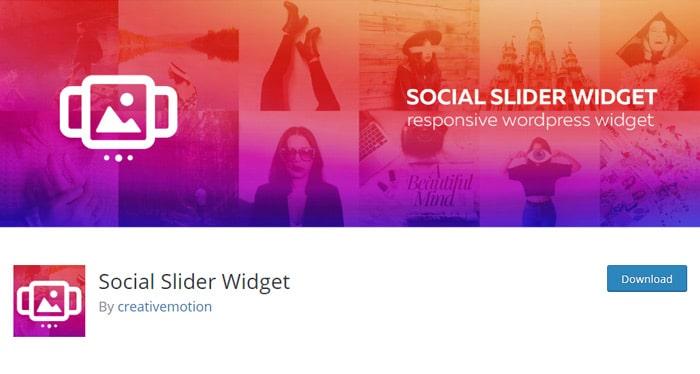 Social Slider Widget