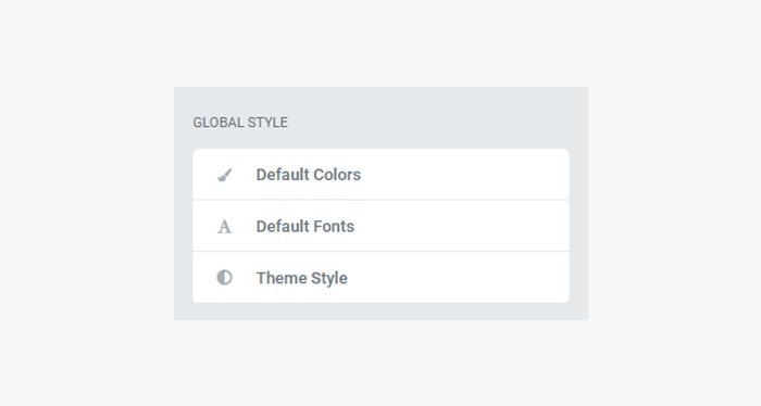Global Style settings