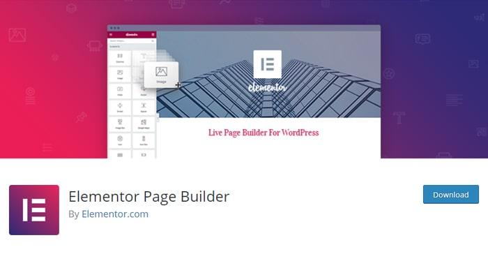 Elementor WordPress page builders