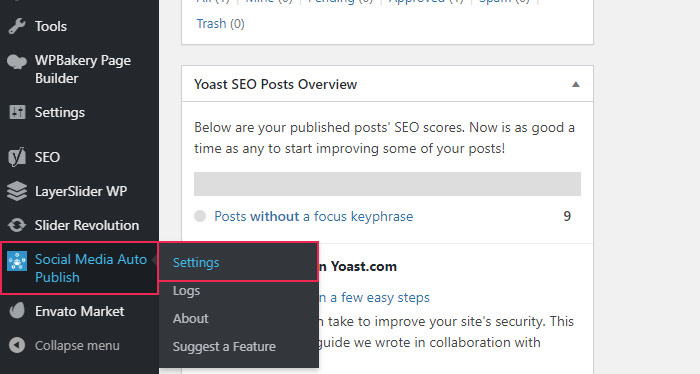 Installing and Activating the-Social Media Auto Publish Plugi