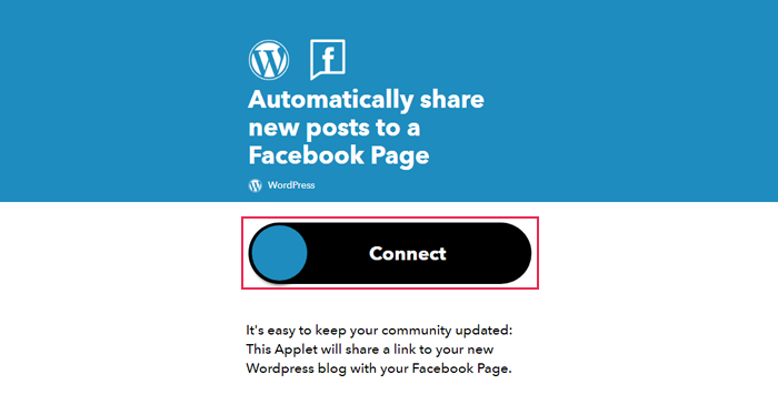 Automatically share new posts to a Facebook Page