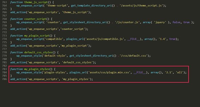 Function my_plugin_styles