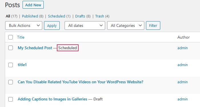 Find Scheduled Posts in WordPress