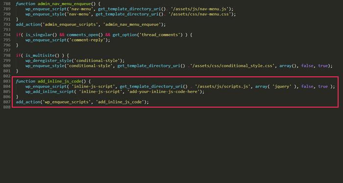 Adding scripts with wp_add_inline_script
