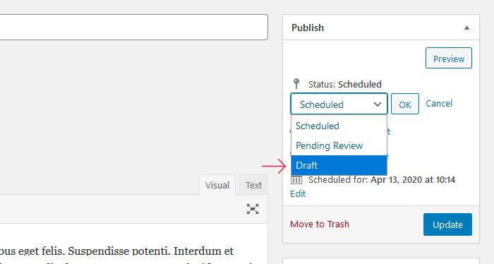 Stop Scheduled Posts in WordPress