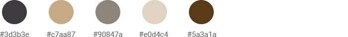 Tan Beige and Dark Slate Gray colors