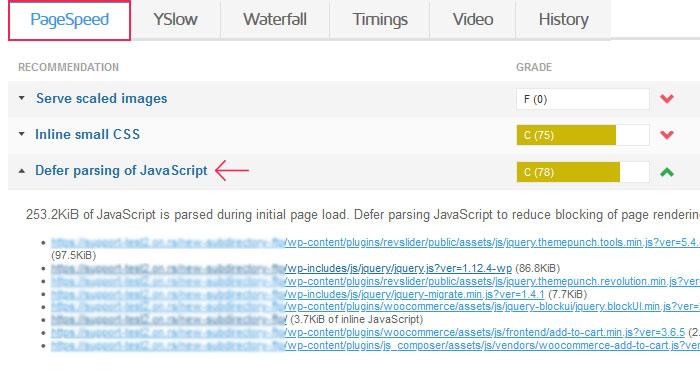 List of JS scripts