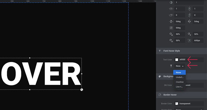 Font Hover Style