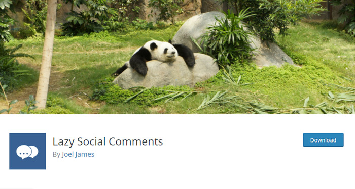 Lazy Social Comments