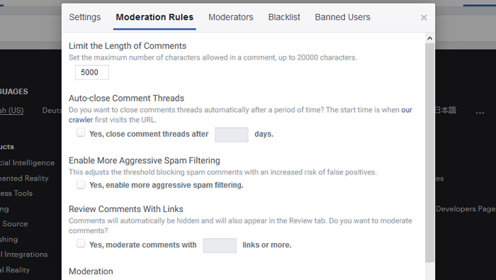 Moderation Rules