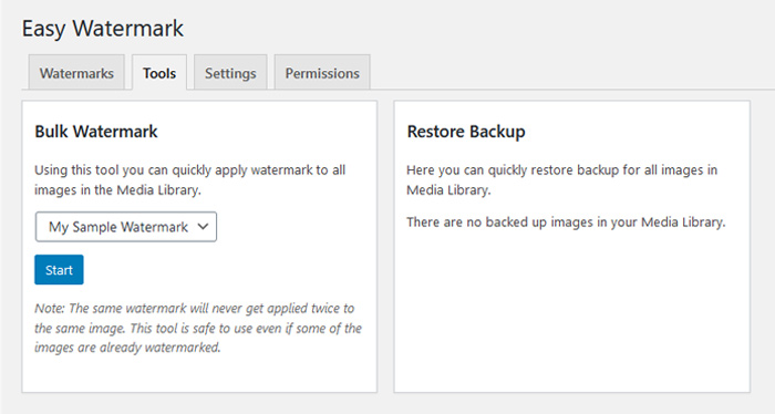 Watermark Your Whole Media Library