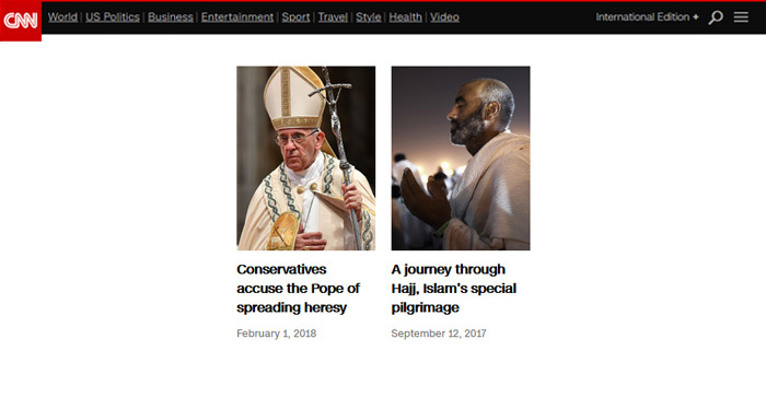 CNNs Mobile Visual Stories page