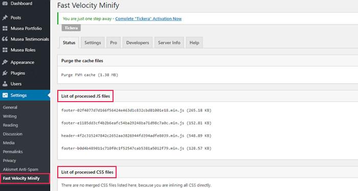 Fast Velocity Minify option