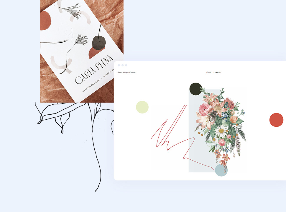 Beautiful Examples of Floral Illustrations in Web Design blog