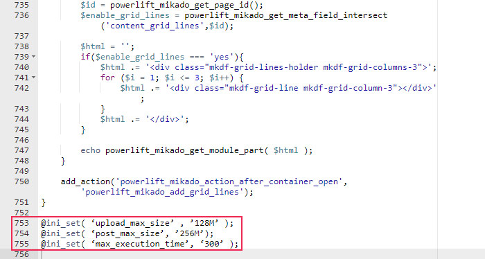 Editing Functions Code