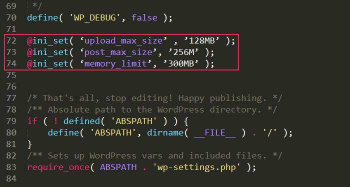Editing WP Config Code