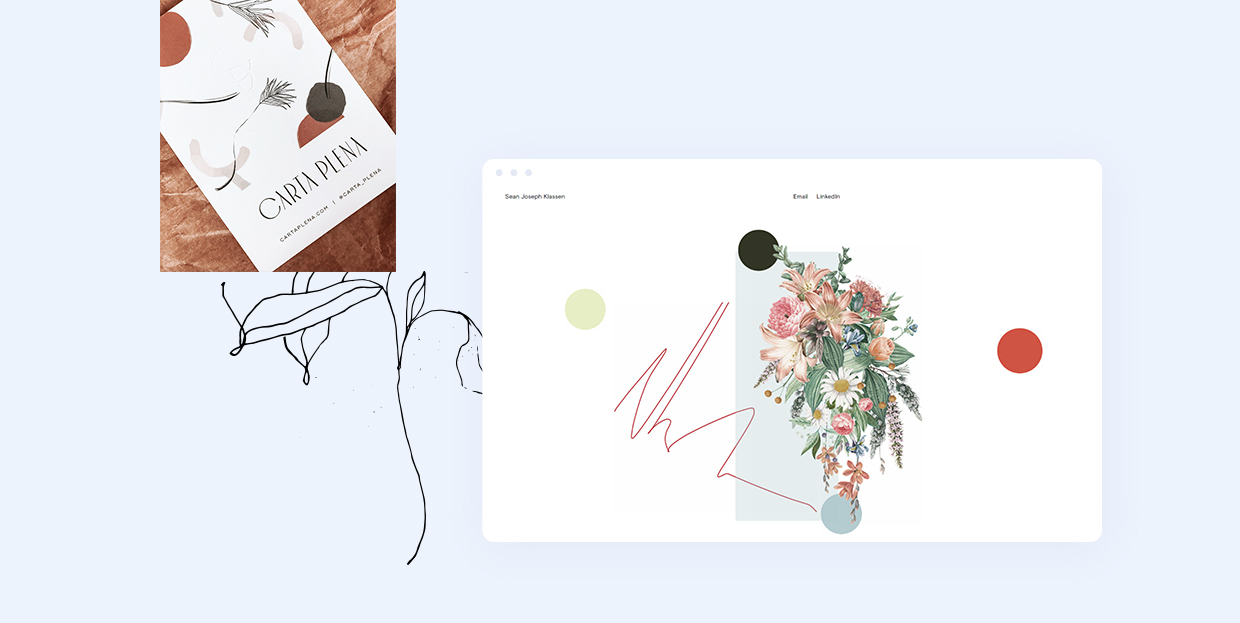 Examples of Floral Illustrations in Web Design