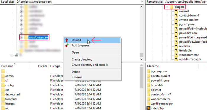 Manually Uploading Plugin Folder