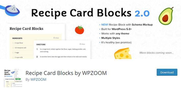 Recipe Card Blocks by WPZOOM Plugin