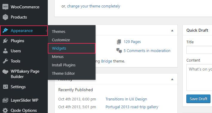 WordPress Widget Options