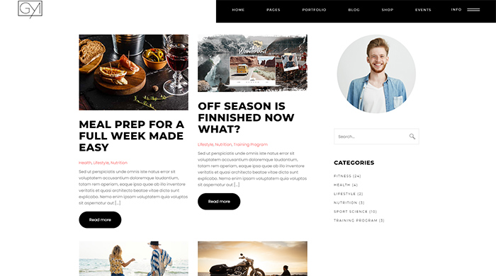 Custom Blog Page