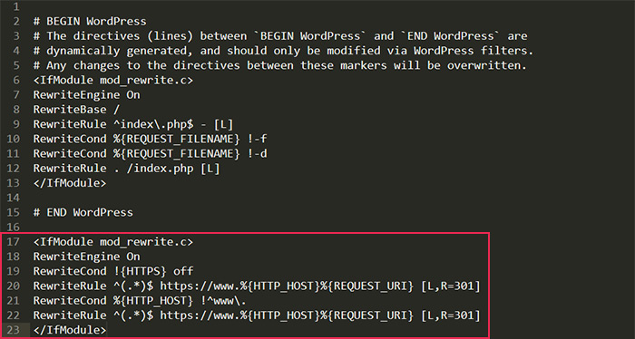 Editing Htaccess Code