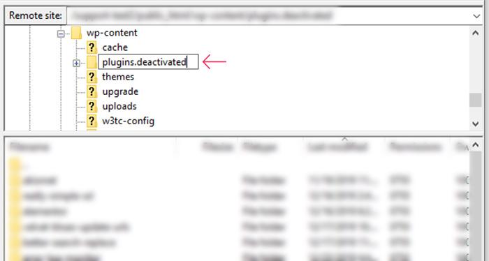 FTP Deactivate Plugins