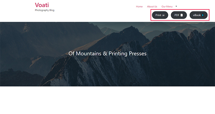 Print My Blog Preview