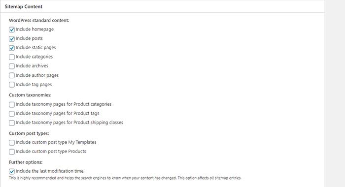 XML Sitemap Conten