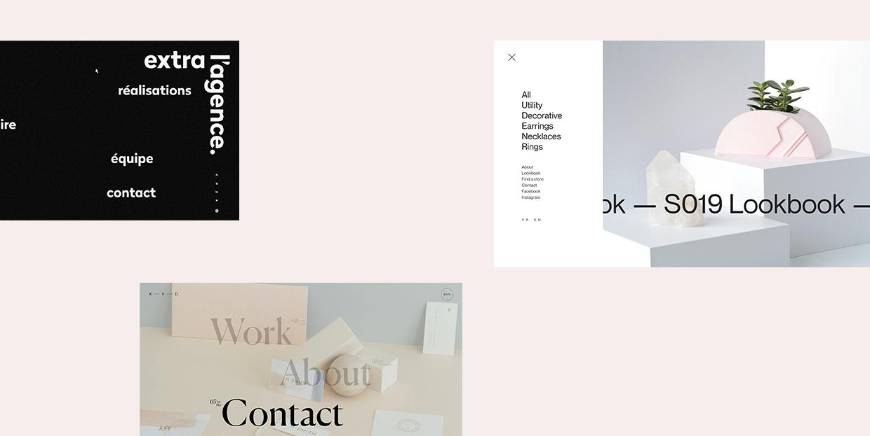 17 Exciting Examples of Hidden Menus in Web Design
