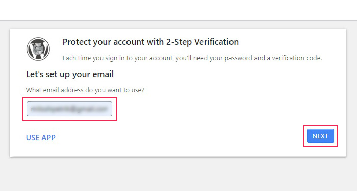 2-Step Verification Email Setup