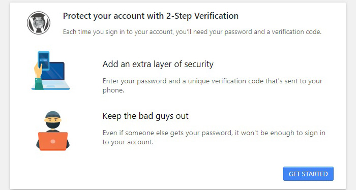 2-Step Verification Get Started