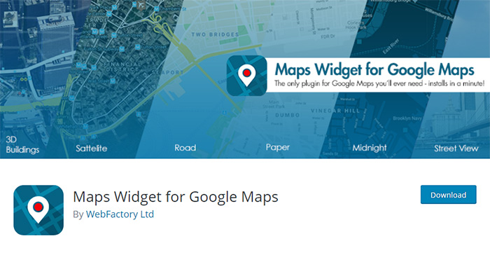 Maps Widget for Google Maps