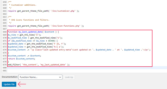 Theme Functions Code