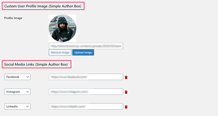User Info